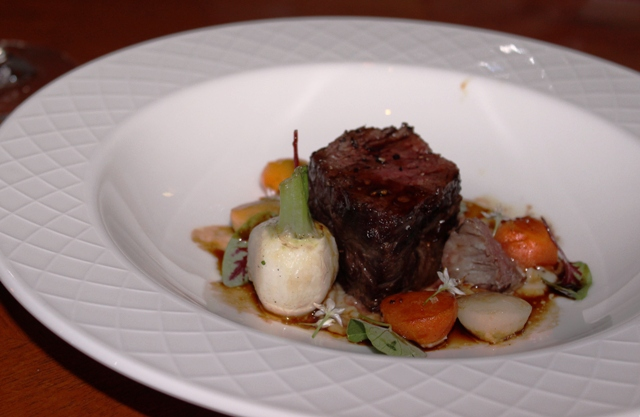 Wagyu Rump coal grilled root vegies res