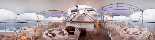 Veranda Cafe on a Cruise Ship