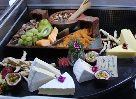 Cheese Platter with fruit and nuts