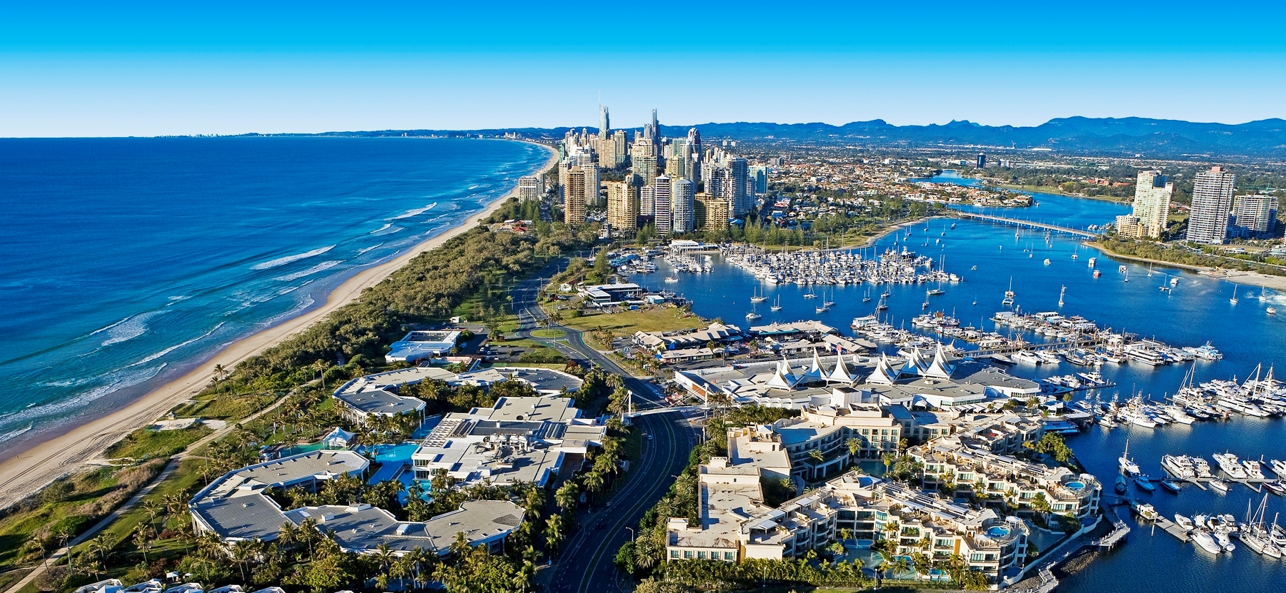 Aerial view Gold Coast